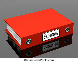 Expenses File Shows Accounting And Records - Expenses File...