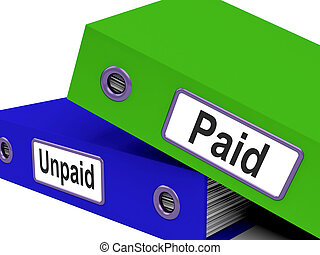 Paid Unpaid Files Shows Overdue Invoices And Bills - Paid...