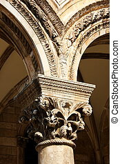 Decorated Arc - A photo of an decorated arc of a building in...