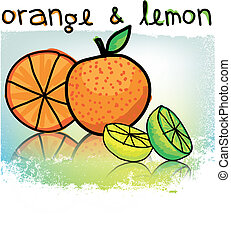 Orange & lemons illustration