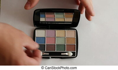 beautiful eye shadow with a mirror