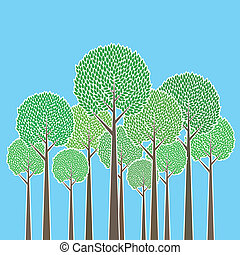 Bunch of Trees - Vector illustration of a bunch of trees.