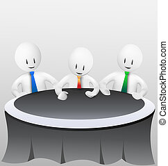 3d business men - meeting vector stock
