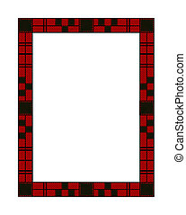 Traditional Red Plaid Holiday Frame - Illustration of a red...
