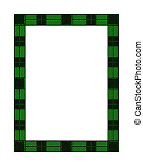 Green Plaid Holiday Frame - Illustration of a green plaid...