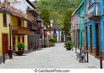 Gran Canaria Teror colorful facades in Canary islands