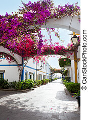 Gran canaria Puerto de Mogan white houses colonial in canary...