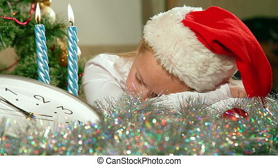 Christmas Child Sleeping