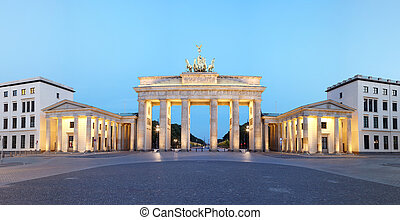 Branderburg Gate panorama, Berlin - Berlin, Germany...