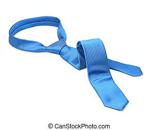 Blue tie taken off - Blue men's tie taken off for leisure...
