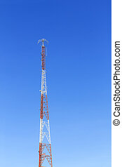 The communication tower with lightning protection