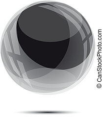 Black glass sphere