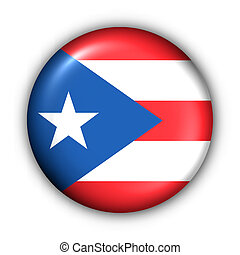 Round Button USA State Flag of Puerto Rico - USA States Flag...