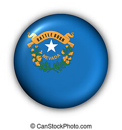 Round Button USA State Flag of Nevada - USA States Flag...