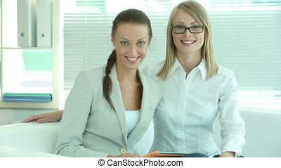 Friends in business - Successful females being in business...