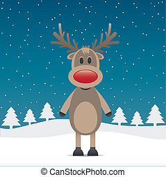 rudolph reindeer with red nose - rudolph reindeer red nose...