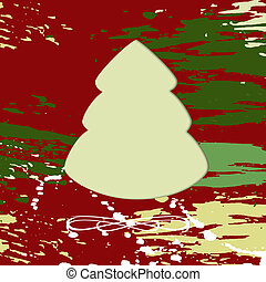 Christmas tree on grungy background