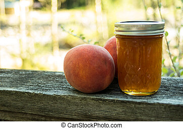 Peach jelly with peaches - Homemade fresh peach jam or jelly...