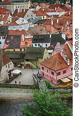 Ancient Medieval Architecture of Cesky Krumlov - Czech Republic