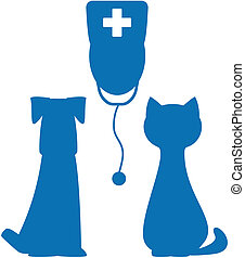 symbol of veterinary medicine - blue symbol of veterinary...