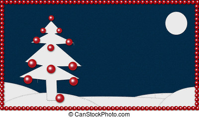 christmas patchwork - Beautiful christmas background with a...