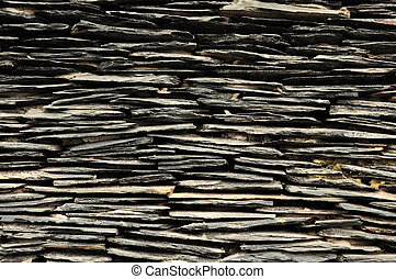 Slate stone wall - Texture of slate stone wall