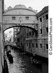 Bridge of Sighs, Venice - View of Bridge of Sighs in Venice,...