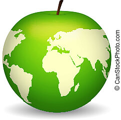 Apple with map