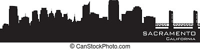 Sacramento, California skyline Detailed vector silhouette