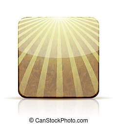Vector abstract app icon on white background. Eps 10