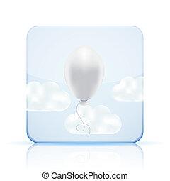 vector balloon icon on white background. Eps 10