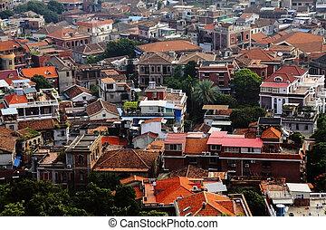 Old European buildings - Xiamen, China shooting