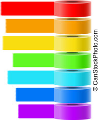 Adhesive tapes vector collection