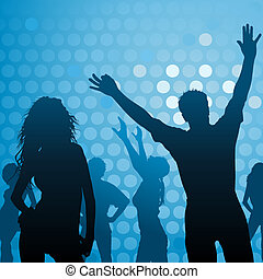 Dance Party - Night Club Life as Vector Background...