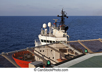 Supply Boat - Offshore supply boat under the offshore...