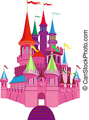 Fairy-tale Pink Castle - Pink Fairy-tale Princess Castle on...