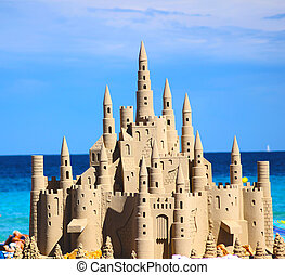 Huge Sand Castle - One of the best sand castles you will...