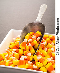 Halloween Candy Corn - A scoop of classic Halloween candy...