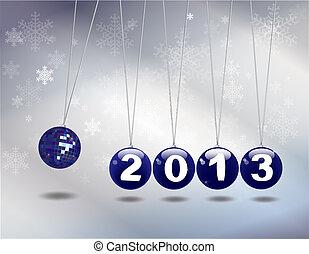 New year Newton's cradle