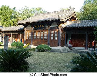 architektoniczny, Chińczyk, tradycyjny, Krajobraz,...
