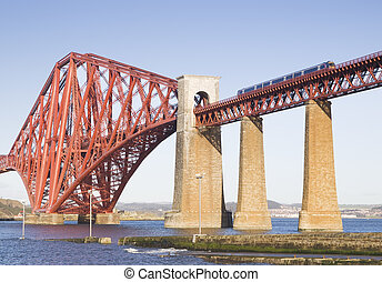 Forth Rail Bridge in Edinburgh, Scotland