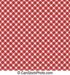 Red Gingham Fabric Background - Red gingham fabric...
