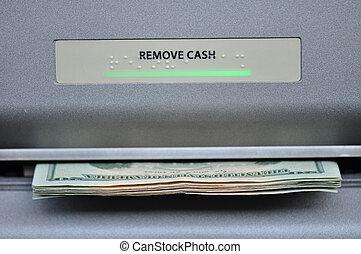ATM, Dinheiro, máquina