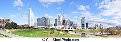 Charlotte, North Carolina Panorama - Panorama view of the...
