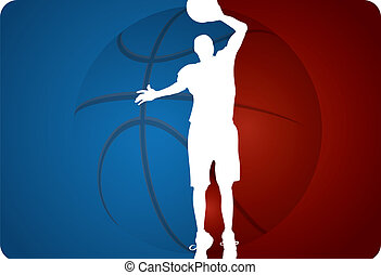 Basketball background - vector illustration
