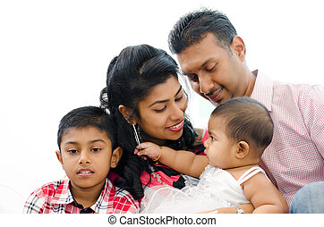 Indian family - Loving Indian family at home