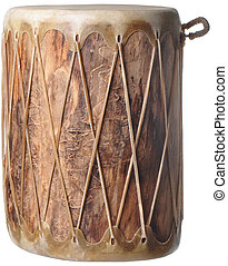 Indian Drum - Native American Cherokee log drum with natural...