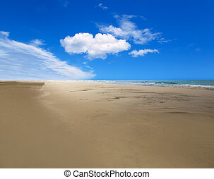 Maspalomas Playa del Ingles beach in Gran Canaria -...