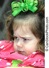 Anger and Pouting - Little girl expresses her extreme...
