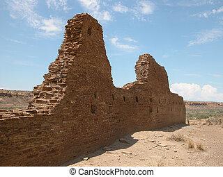 Chaco Ruins 7 - New Mexico - The ancient ruins at...